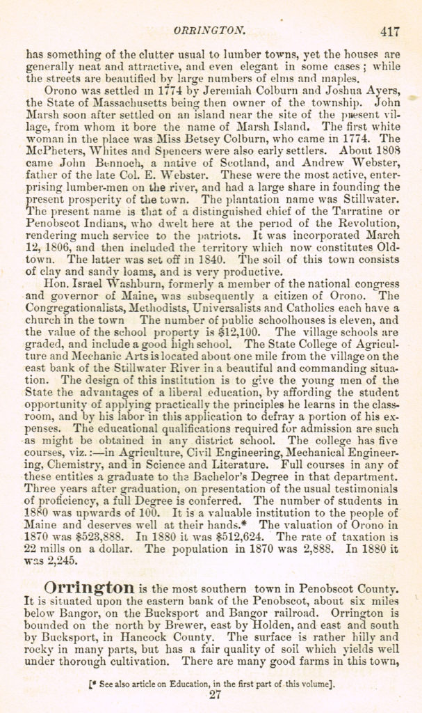 1886 Gazetteer of State of Maine, pg.417
